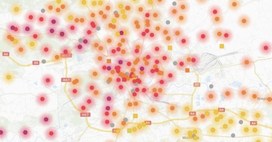 Zanieczyszczenie powietrza - pyły zawieszone 19.03 - Airly.com