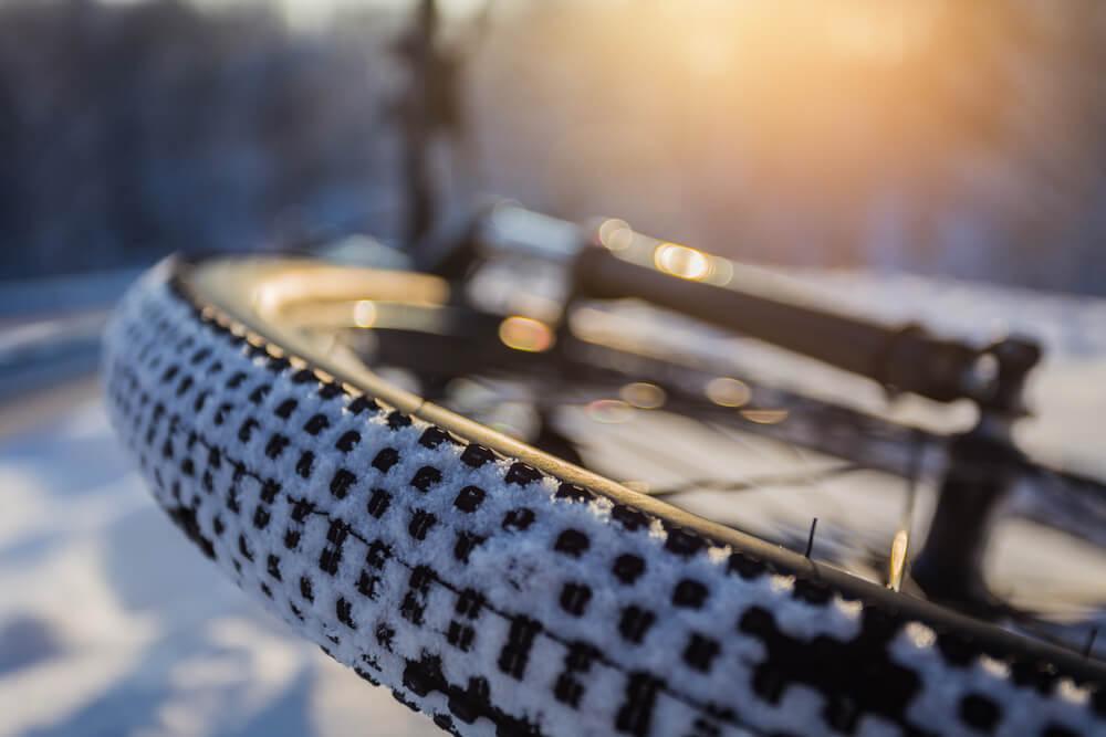 kolo roweru, zima